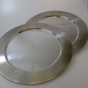 Vintage Stainless Communion plates Serving platter
